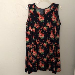 Knee length floral dress